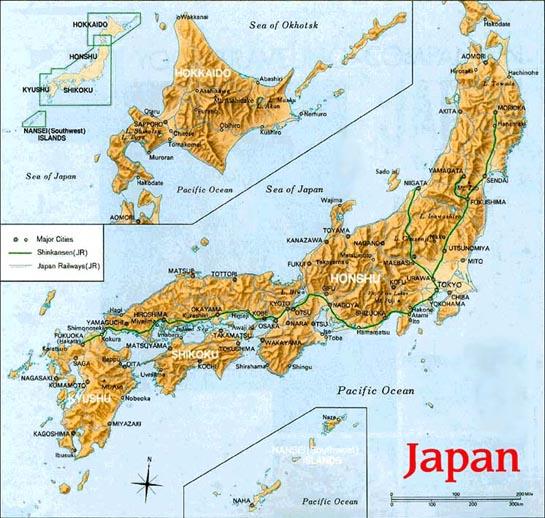 Il Giappone Cartina Politica.La Geografia