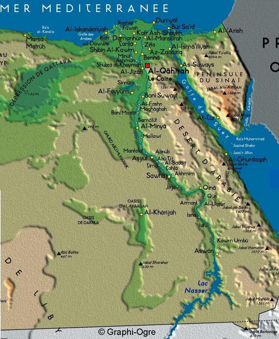 Cartina Egitto In Italiano.Cartine Dell Egitto E Delle Sue Citta