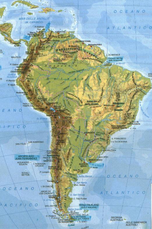 Cartina Fisica America Latina.Maxim De Exemplu Banzai Mappa America Meridionale Amazon Confettidarling Com