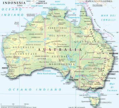 Cartina Geografica Dell Australia.Australia