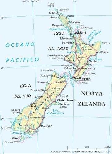 Cartina Geografica Della Nuova Zelanda.Nuova Zelanda