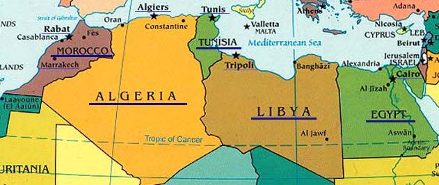 Cartina Fisica Dell Africa Mediterranea.Africa Mediterranea
