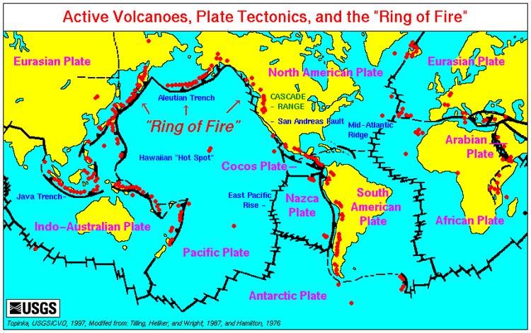 Cartina Vulcani Nel Mondo.Oceano Pacifico