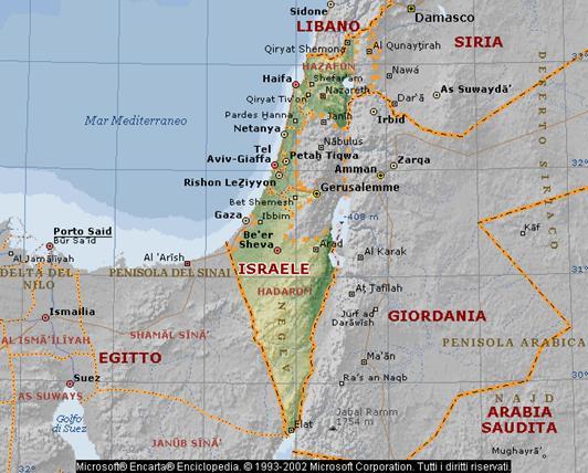 Cartina Politica Palestina.Cartina Politica Di Israele