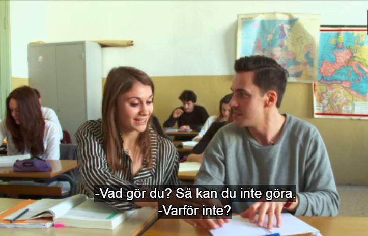 frame di filmato TV Svedese sul Berchet