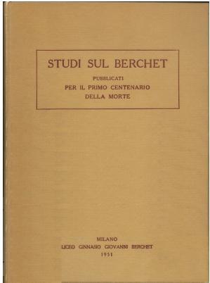 foto copertina libro Studi sul Berchet