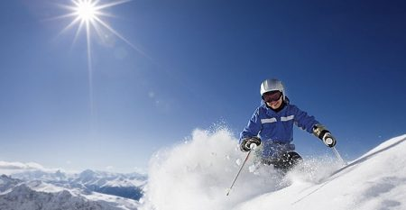 foto di sciatrice