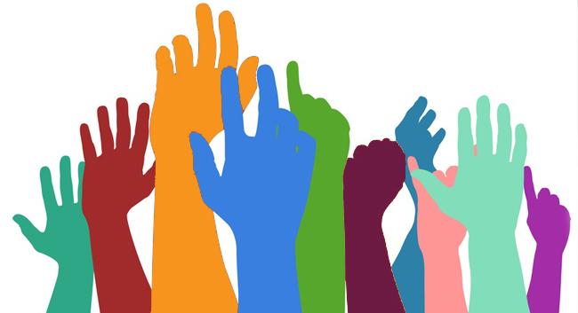 immagine stilizzata di mani alzate