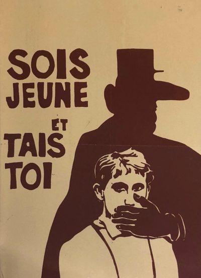 "immagine con scritta ""sois jeune et tais toi"""