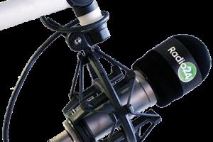 immagine di Microfono con scritta Radio24